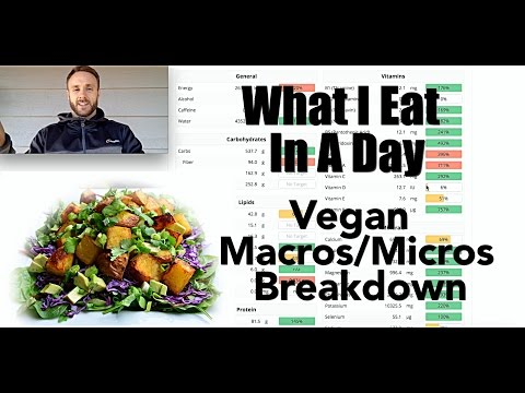 What I Eat in a Day - VEGAN NUTRITION on Cronometer