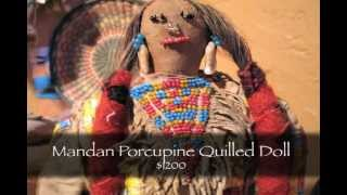 Frontier Plunder Indian Trading Post - Mandan Porcupine Quilled Doll