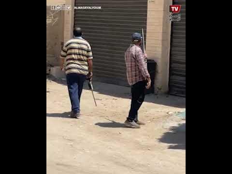 محاولات القبض علي نسانيس حدايق الأهرام