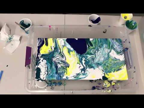 Fluid Acrylic Dirty Pour - Time Lapse