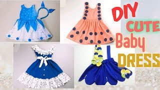 4 AWESOME DIY CUTE BABY DRESS/EASY TO MAKE