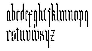How To Write Modern Gothic Calligraphy Alphabet // Gothic Alphabet Step By Step