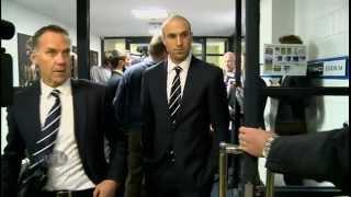 Chris Judd Talks To The Media Outside The Tribunal  - AFL