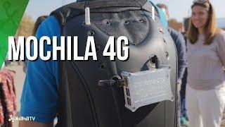 Mochila que crea red propia 4G