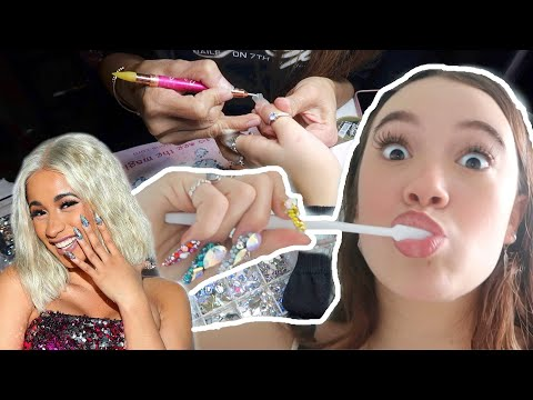 My $$$ Cardi B Nail Artist Experience in NYC! Worth it? Fiona Frills