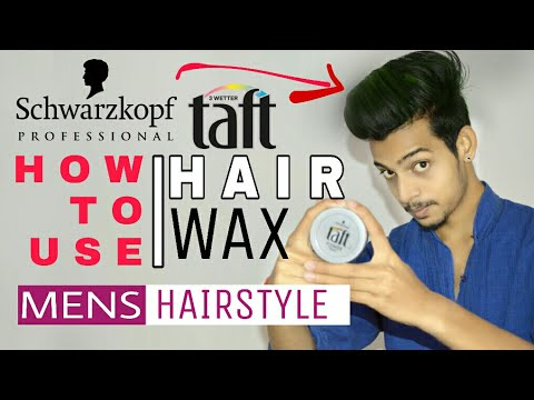 How To Use Taft Hair wax | HINDI | Hair Wax Full Review | Indian Mens Hairstyle Tutorial