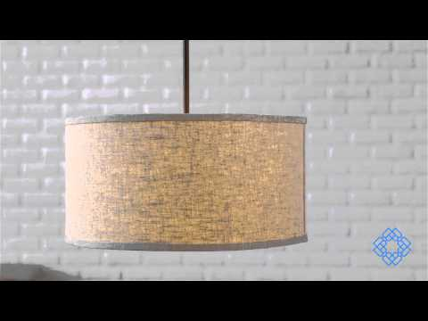 Video for Midtown Burnished Bronze Three-Light Pendant
