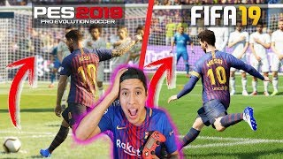 FIFA19 Vs PES 2019 ⚽️ PSG vs Juventus | Barça vs Boca Juniors | Gameplay Comparacion