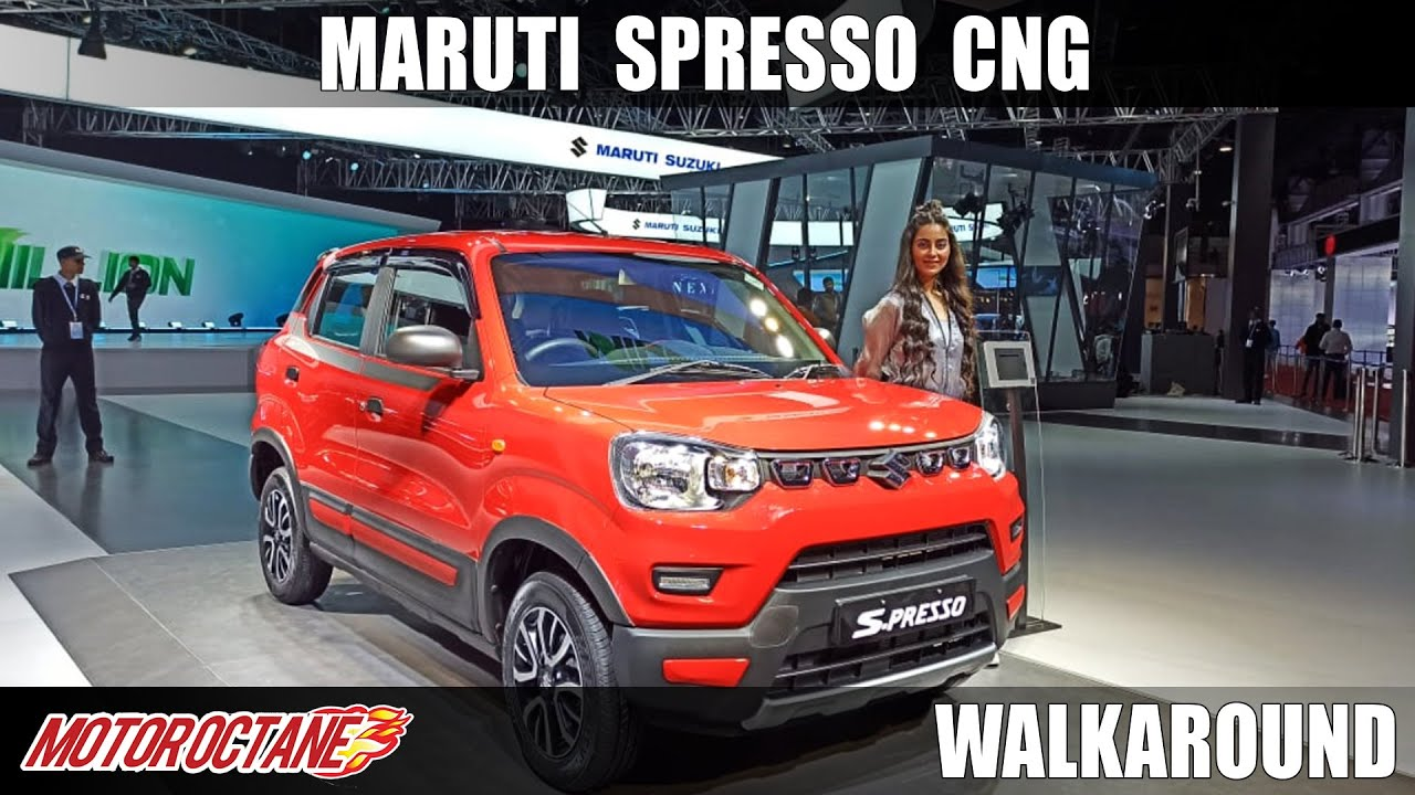 Motoroctane Youtube Video - Maruti Spresso CNG - Boot Space! | Auto Expo 2020 | Hindi | MotorOctane