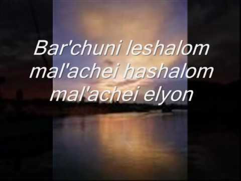SHALOM ALEICHEM with Lyrics Sung by Susana Allen