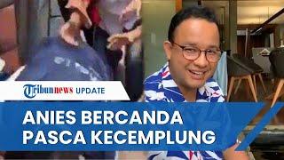 Pasca-tercemplung Got, Anies Baswedan Unggah Video di Facebook dan Berkelakar soal Insiden Itu