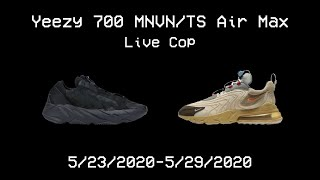 Yeezy 700 MNVN and Travis Scott Air Max 270 Live Cop (Project Destroyer and Better Nike Bot)
