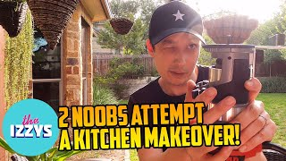 Can 2 Noobs do a Kitchen Makeover?!