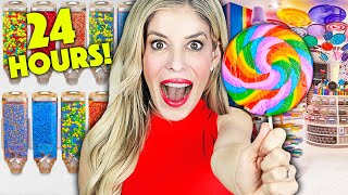 Sneaking Into A Giant CANDY STORE for 24 Hours - Rebecca Zamolo