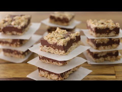 No-Bake Chocolate Peanut Butter Oatmeal Bars Recipe