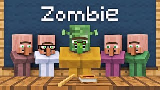 Zombie Vs Villager Life 1   Alien Being Minecraft Animation