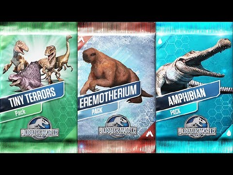 EREMOTHERIUM Pack - TINY TERRORS Pack - AMPHIBIAN Pack - Jurassic World The Game