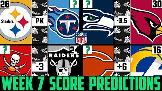 NFL Week 7 Score Predictions 2020 (NFL WEEK 7 PICKS AGAINST THE SPREAD 2020)