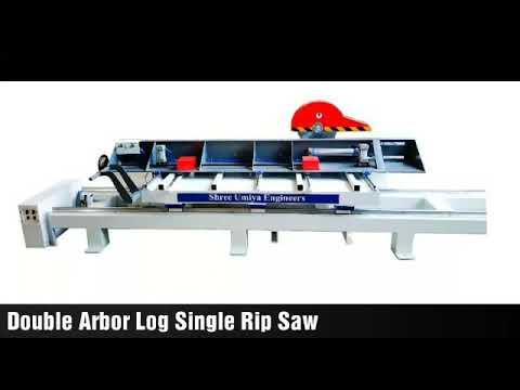 Double Arbor Single Rip Saw Machine