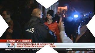 Internetadó Tüntetésén: Élő egyenes adásban letámadták az operatőrt! Meredek!