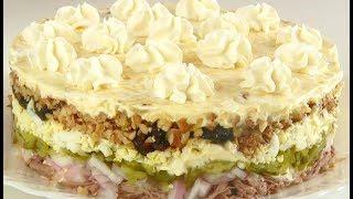 """Салат  """"Принцесса"""" /Потрясающе вкусный праздничный салат"""