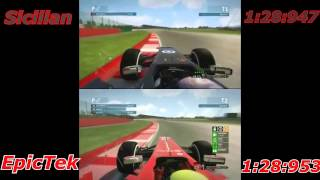 F1 2013 Lap comparison : Sicilian Vs EpicTek