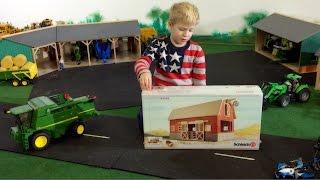 Kinder Bauernhof ♦ SCHLEICH 42028 Farm Life mit Scheune ♦ BARN ASSEMBLING ♦ BRUDER Spielwaren FARM