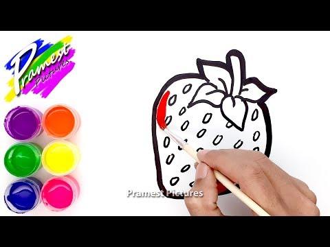 Cara Menggambar Strawberry Menggambar Dan Mewarnai Untuk Anak Anak