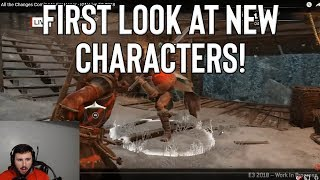 [FOR HONOR] FIRST LOOK AT NEW CHARACTERS! | IGN INTERVIEW REACTION - dooclip.me