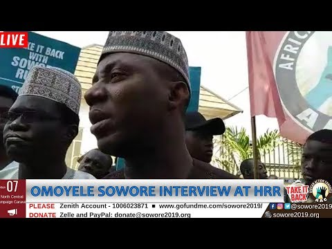 Download LIVE: Omoyele Sowore Addresses Crowd At Human Rights Radio #AACParty #TAKEITBACK #SOWORERUFAI2019 HD Mp4 3GP Video and MP3