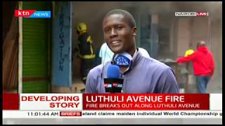 DEVELOPING: Fire breaks out along Luthuli Avenue, hardware stalls destroyed