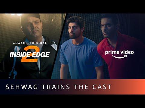 Inside Edge Training feat. Virender Sehwag, Angad Bedi, Tanuj Virwani | Amazon Prime Video