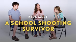 Kids Meet a school shooting survivor