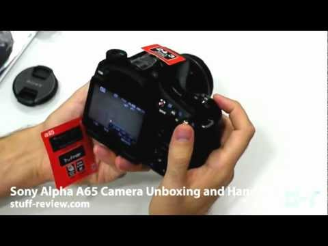 Sony Alpha A65 Digital Camera Unboxing and Hands-on