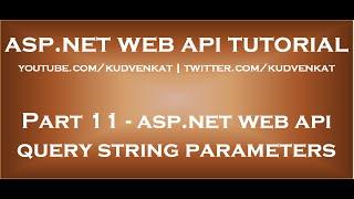 ASP NET Web API query string parameters