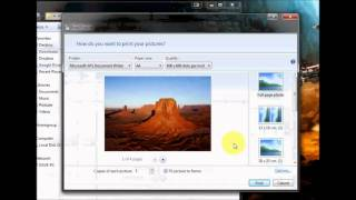 Selecting multiple pictures for print without special software on Windows 7