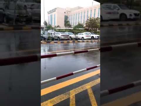 بالفيديو.. الأمطار تغسل طرق جدة.. والكهرباء تحذر