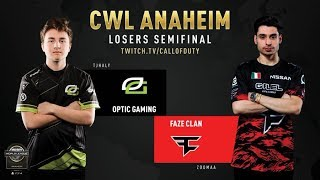 Optic Gaming vs FaZe Clan | CWL Anaheim 2019 | Losers Semifinal