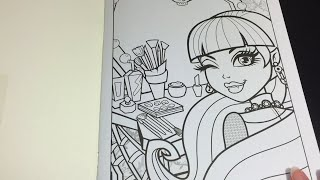 Coloring Time Ep 3 Monster High Draculaura Speed Page Crayola