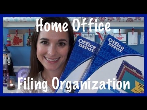 Home Office: Filing Organization