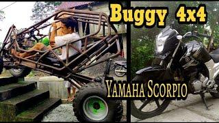 Yamaha Scorpio jadi Buggy 4x4 // Transformation  Motorcycle  to Buggy 4 WD// PUBG