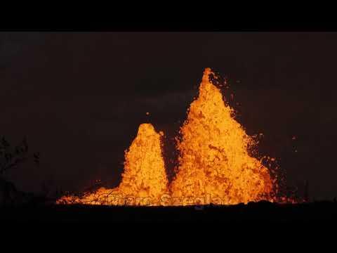 Kilauea: Spalte 22 während der Abenddämmerung