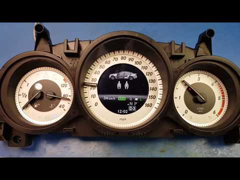 Mercedes W204 C Class Instrument Cluster Test and Repair by