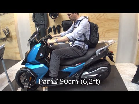 The 2018 BMW C 400 X scooter – tall rider 190cm (6,2ft)