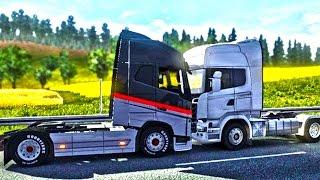 АВАРИИ, СМЕШНЫЕ МОМЕНТЫ, ФЕЙЛЫ и УГАР в ETS 2 (Euro Truck Simulator 2 Multiplayer)