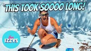 HOW MANY HOURS DID IT TAKE TO DRAIN THIS POOL?!