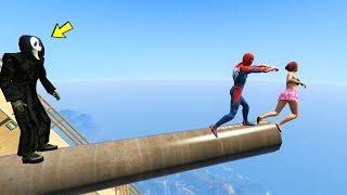 اغاني حصرية قراند 5 : لقطات مضحكة سبايدرمان والشبح????GTA 5 - Bay Bay Spiderman | Ragdolls Funny Moment تحميل MP3