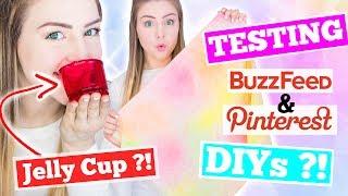 Testing Pinterest and Buzzfeed DIYs !