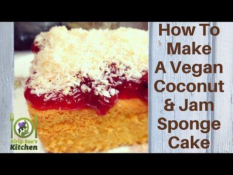 Video How To Make A Vegan Coconut and Jam Sponge Cake