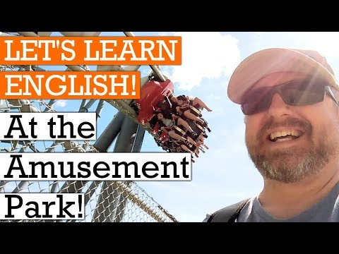 Let's Learn English at the Amusement Park - A Fun English Lesson🍁